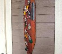 repurposed vintage water ski fish key rack organizer, organizing, repurposing upcycling, wall decor