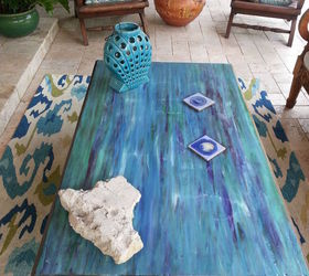 Captivating From Weathered To Coastal Patio Table, Outdoor Furniture, Painted Furniture,  Repurposing Upcycling
