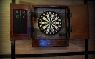 reclaimed wood dartboard cabinet diy, diy, how to, pallet, repurposing upcycling, woodworking projects