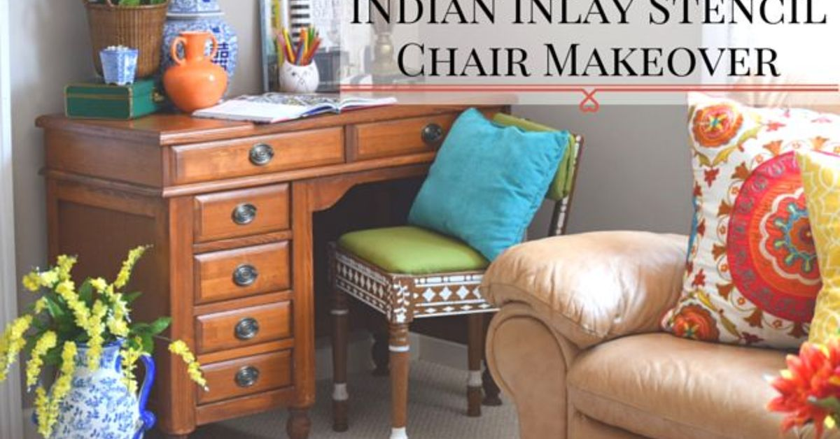 Thrift Store Chair Makeover With Indian Inlay Stencils Hometalk