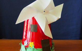 dutch windmill craft for kids, crafts, how to, repurposing upcycling