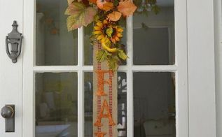 diy fall banner for your wall or door a great alternative to a wreath, crafts, doors, how to, wall decor, wreaths