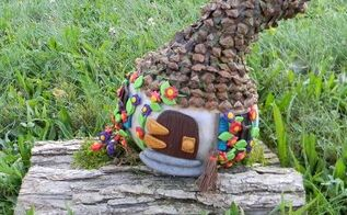 repurposed gourd to fairy cottage, crafts, gardening, how to, repurposing upcycling