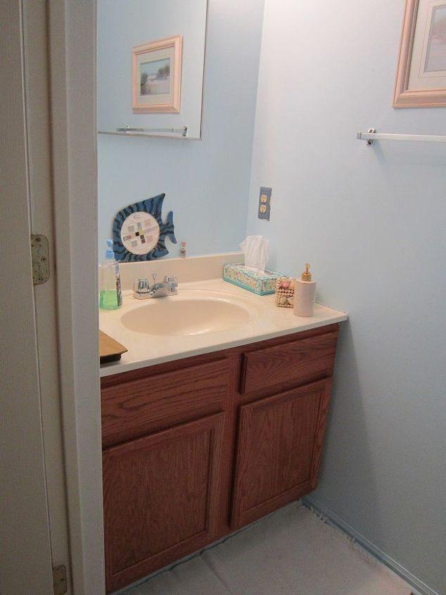 tiny half bath makeover  bathroom ideas  painting  small bathroom ideas. Tiny Half Bath Makeover   Hometalk