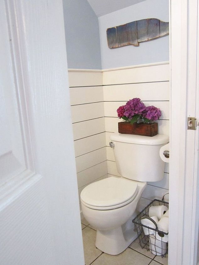 Tiny half bath makeover hometalk for Bathroom ideas half baths