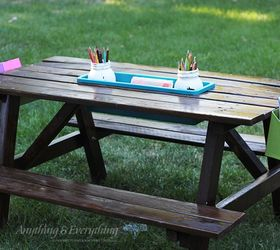 diy kids activity picnic table crafts organizing outdoor furniture painted furniture