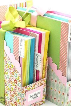 handmade file folder box, craft rooms, crafts, organizing