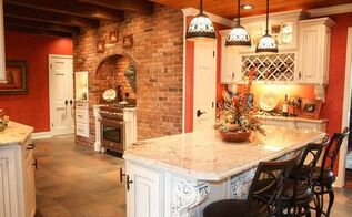 hidden kitchen finds new life, concrete masonry, countertops, flooring, kitchen cabinets, kitchen design