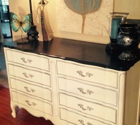 Dixie Vintage French Provincial 8 Drawer Dresser Makeover, Painted Furniture