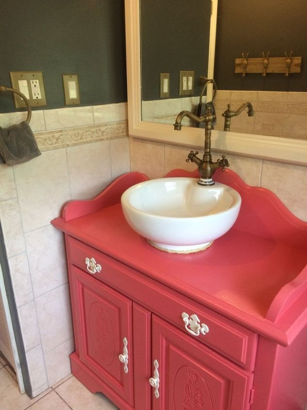 repurposed old dry sink turned bathroom vanity hometalk