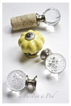 how to make beautiful bottle stoppers from wine corks and drawer pulls, crafts, how to, repurposing upcycling