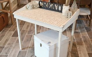 fabric topped table, how to, painted furniture, repurposing upcycling, reupholster