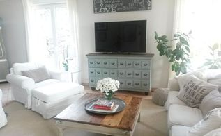 ikea hack television apothecary cabinet, painted furniture, repurposing upcycling