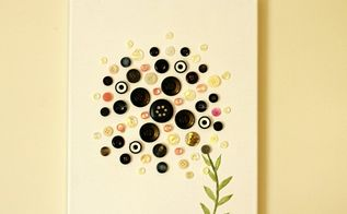 fun craft with button art, crafts, how to, repurposing upcycling, wall decor