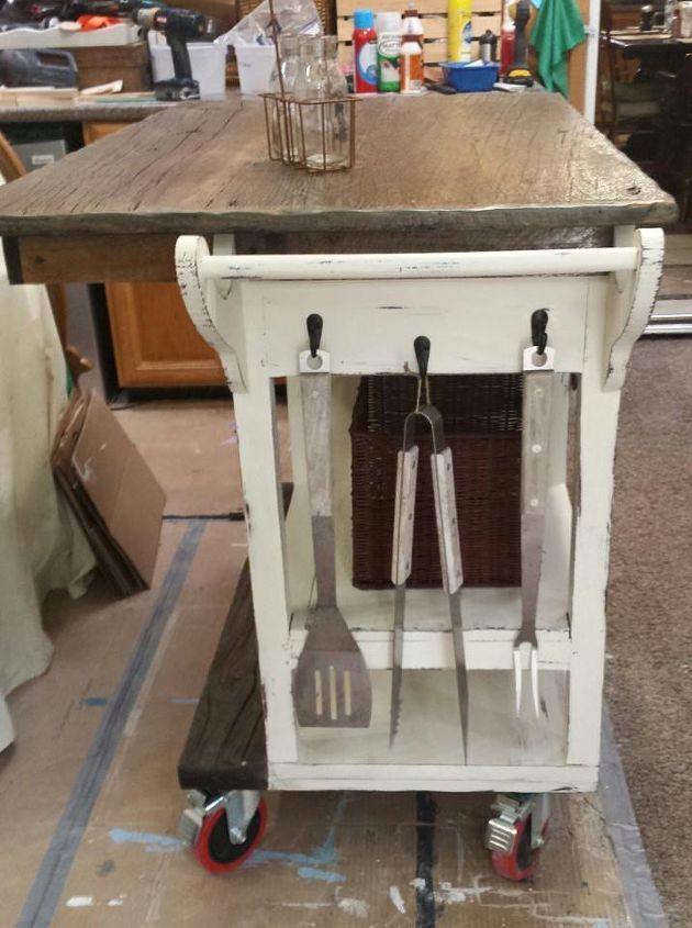 DIY Barnwood top Rustic Kitchen Island | Hometalk
