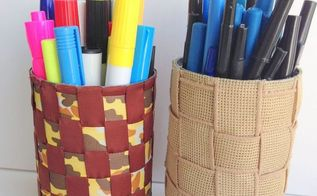 how to make pen and pencil holders from recycled tin cans, crafts, how to, repurposing upcycling