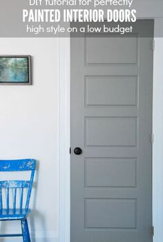 diy gray painted interior doors, doors, how to, painting