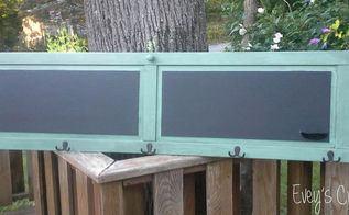 upcycled door into hall tree with chalkboard augustfabflippincontest, chalkboard paint, doors, repurposing upcycling