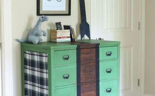 furniture makeover plaid dresser, painted furniture