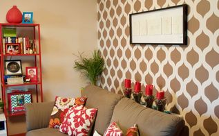 ow to personalize your apartment using stencils, painting, wall decor