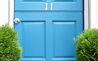 makeover an old front door with paint, curb appeal, doors, painting