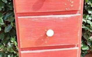 red dresser makeover, painted furniture