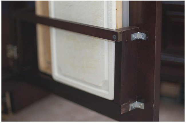 diy vertical behind the cabinet door cutting board holder how to kitchen cabinets - Cutting Kitchen Cabinets