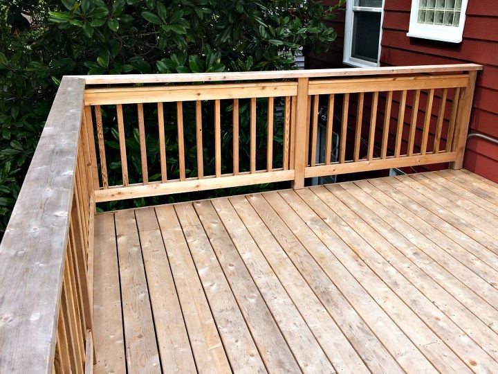 How to restore a gray and faded deck hometalk for Garden decking varnish