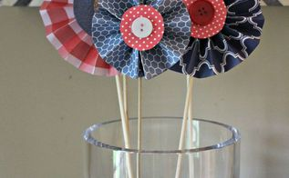 diy summer patriotic pinwheels, crafts, how to, patriotic decor ideas, seasonal holiday decor