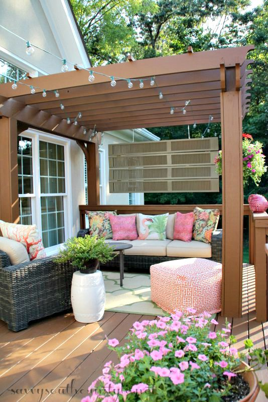How to transform an old worn deck into a beautiful outdoor for Beautiful garden decking