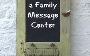 how to turn a vintage door into a family message center, chalkboard paint, crafts, doors, how to, repurposing upcycling