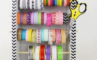 diy washi tape organizer dispensor from a box, craft rooms, crafts, how to, organizing, repurposing upcycling, The second attempt and favorite