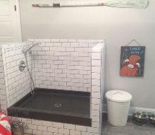 diy dog shower, bathroom ideas, foyer, pets animals