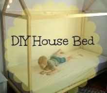 diy house bed, bedroom ideas, diy, painted furniture, woodworking projects