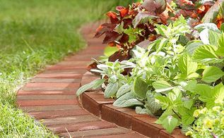 diy ideas to use bricks in garden design, concrete masonry, gardening, landscape, repurposing upcycling