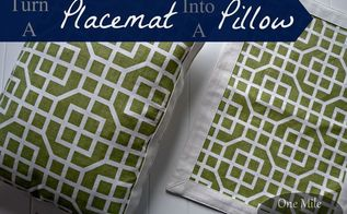 diy placemat pillows for under 2, crafts, how to, repurposing upcycling