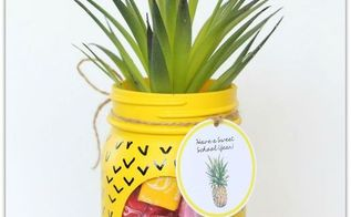 pineapple mason jar, crafts, how to, mason jars, repurposing upcycling