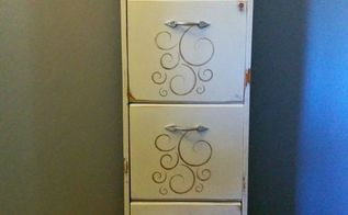 repurposed filing cabinet painted furniture, painted furniture, repurposing upcycling, storage ideas