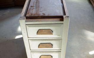 reclaimed wood nightstand, painted furniture, repurposing upcycling