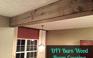 reclaimed barn wood beam cover, diy, living room ideas, woodworking projects