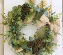 how to make a natural wreath diy, crafts, how to, seasonal holiday decor, wreaths