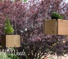 diy hanging cedar planters, container gardening, diy, gardening, woodworking projects