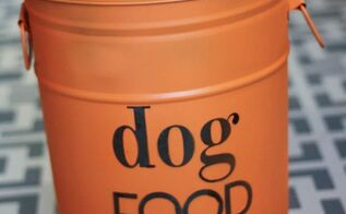 diy dog food storage old popcorn tin, pets animals, repurposing upcycling, storage ideas