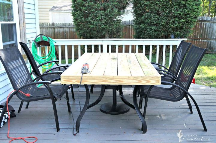 Outdated Patio Set Rustic Makeover Decks Diy Outdoor Furniture Rustic Furniture