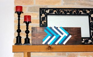 diy wall art with paint sticks, crafts, wall decor