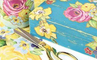 vintage gift box diy, chalk paint, crafts, decoupage