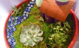 fairy castle garden, crafts, gardening, home decor, repurposing upcycling