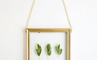 diy hanging gold wall frame leaf art how to, crafts, how to, wall decor
