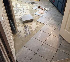 New Bathroom Floor Ideas Part - 19: Carpeted Bathroom Gets A New Tile Floor, Bathroom Ideas, Diy, Flooring,  Tiling