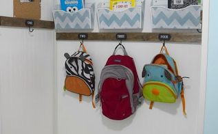 creating a mudroom and backpack organizer, foyer, organizing, shelving ideas, storage ideas